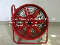 500mm high-speed portable Anxial ventilator /hand push exhaust fan with wheel