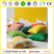 55% Linen 45% Cotton Yellow Sunflowers Cushion Covers