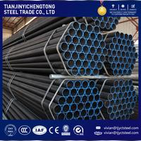China supply 1 inch diameter din standard black round carbon steel pipe price per ton