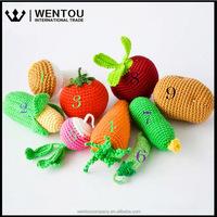Eco-friendly Crochet Veggies Baby Rattles