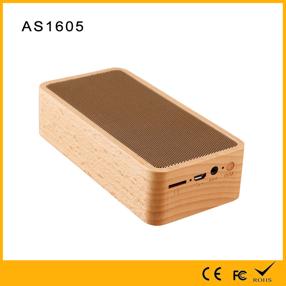High quality OEM portable natural wood bluetooth wireless speaker with cheap price