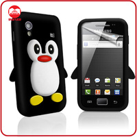 Wholesale Animal Shaped Penguin Skin Silicon Case Cover for Samsung S5830 Galaxy Ace