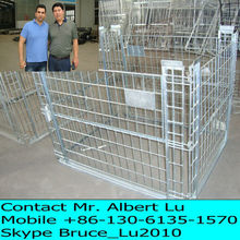 Steel rolling metal storage cage for Warehouse