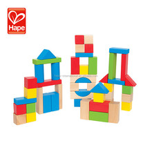 Hape new design baby funny wooden toys creative blocks build and play