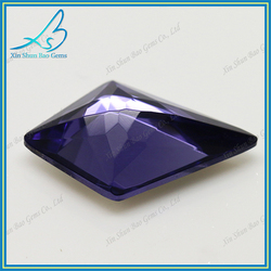 Fancy cutting kite shape purple glass gem prices