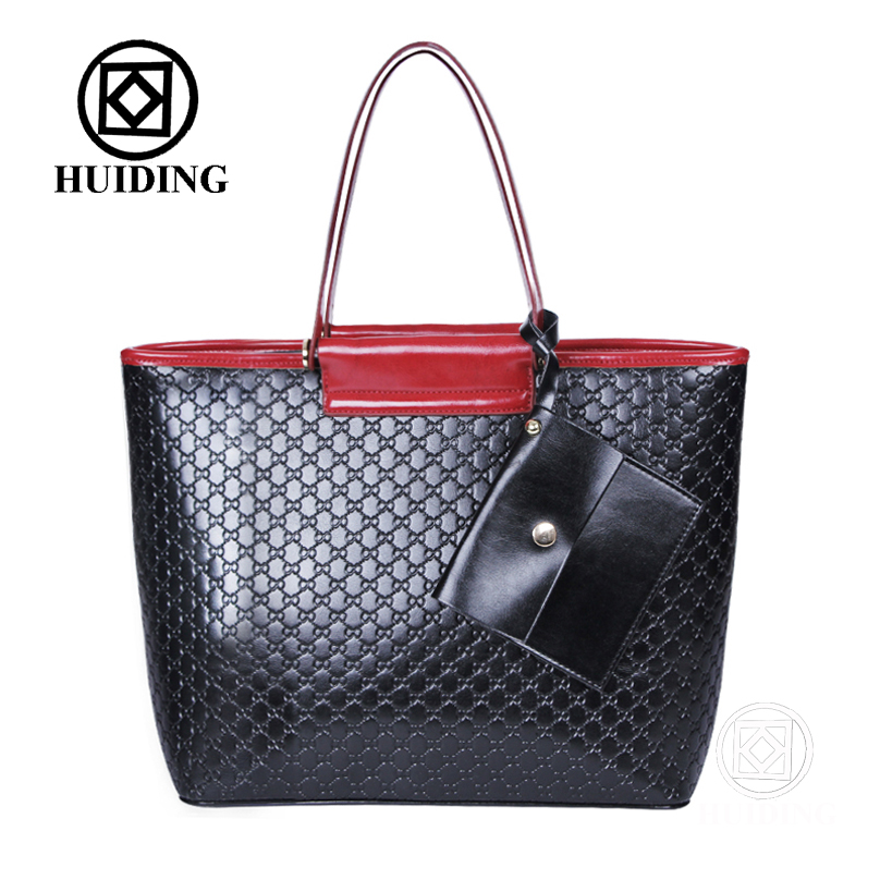 2016 Fashion Embossed Bag with Wallet Baigou Factory Wholesale Cheap Designer Lady Leather Bags Handbag