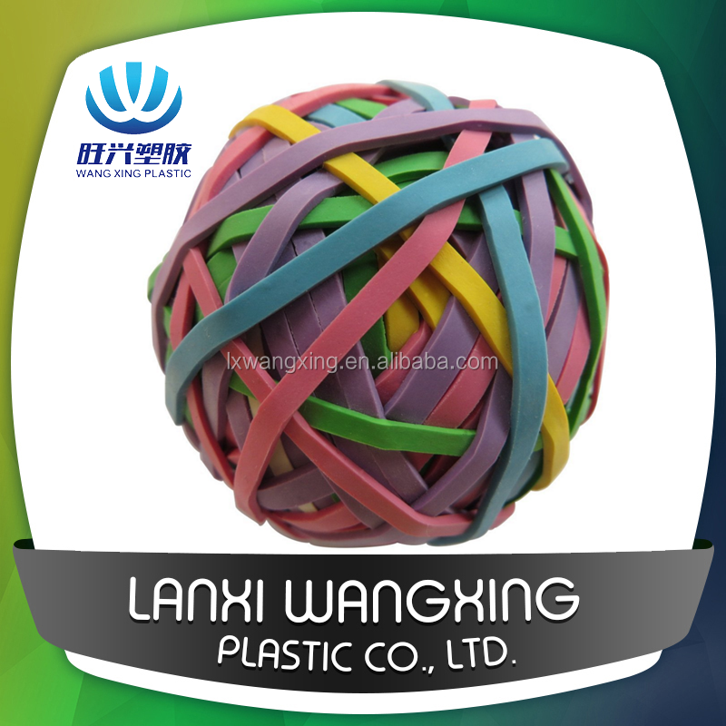 Hot selling colorful elastic rubber band bouncy ball,solid high bouncing rubber balls