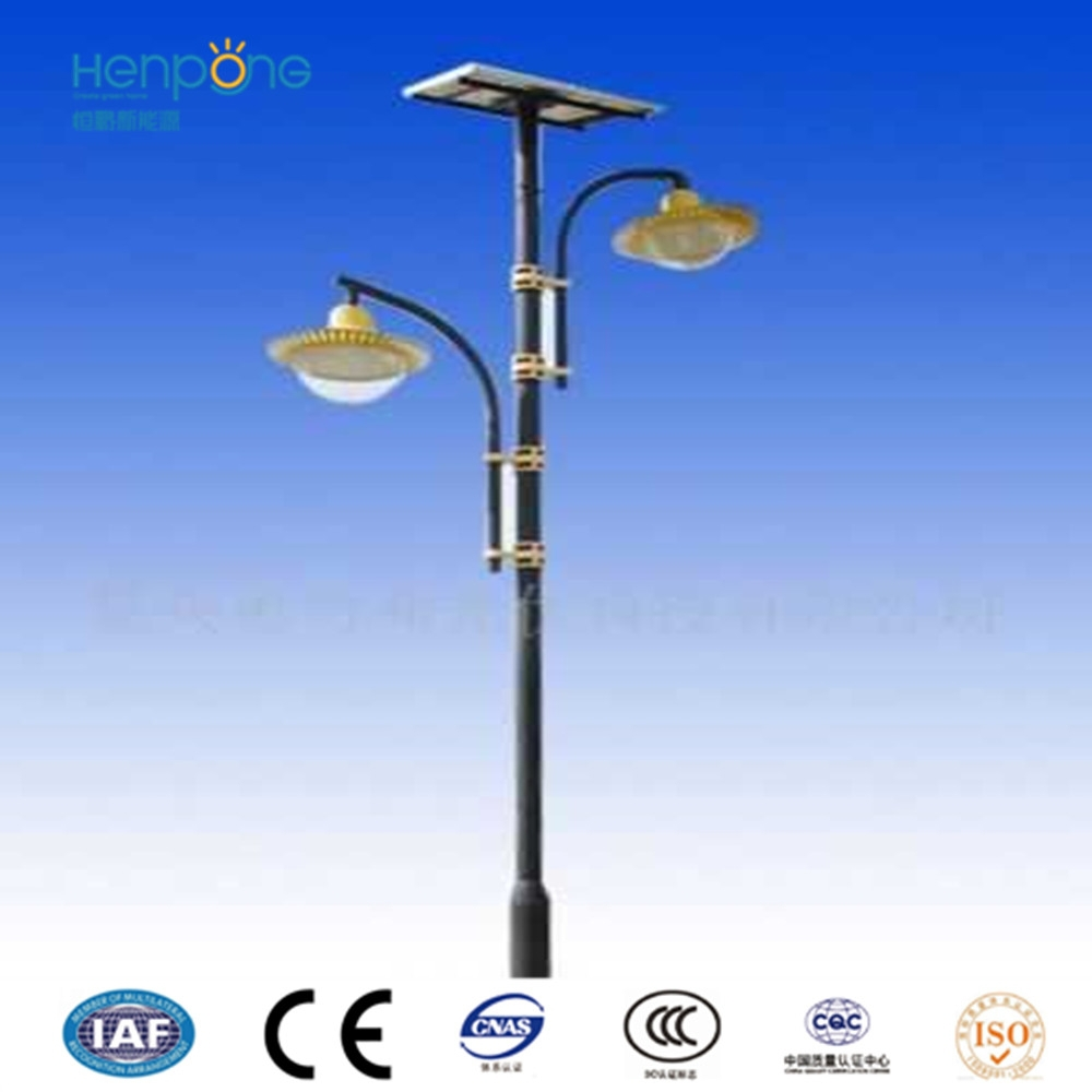Modern style corrosion proof Stainless steel pole solar garden light