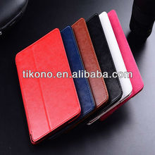 High end folio stand leather case cover for ipad mini 2