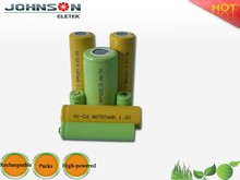 Factory price ni-mh nimh battery rechargeable battery pack 3.6v 2/3aa 650mah