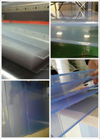 transparent pvc sheet for bending, 2mm thickness, 4x8 size , super clear