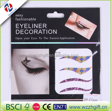 Hot sale leading fashion skin friendly eyeliner decoration eye tattoo stickers for make up