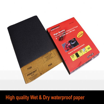 High Quality Orientcraft Silicon Carbide Coated Wet And Dry Waterproof Abrasive Sanding Sheet Sandpaper
