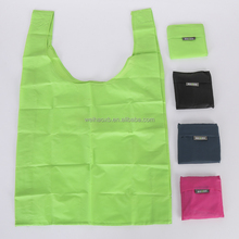 Nylon recycled custom foldable waterproof shopping tote folding bag