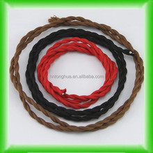 Twisted Braided Textile Electrical Cable/Wire/Pulley Cord 2 wires/3 wires