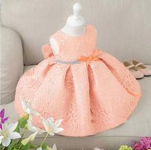 Fancy baby clothes christening gown with hat