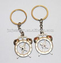 Plush clock keychain fashion desgins for promotion