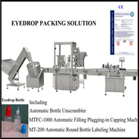 Eyedrop packing solution/10ml liquid filling capping machine/round bottle labeling machine
