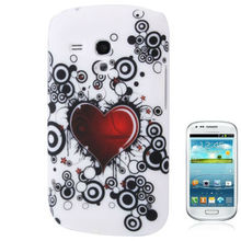 Heart Pattern Plastic Case for Samsung Galaxy SIII mini / i8190