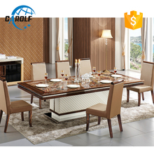 carolf modern dining table set with 12 chairs