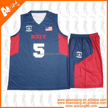 Deep blue and red match cool basketball jersey trendy and classic design