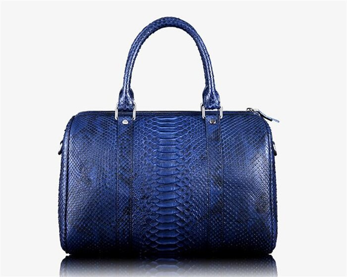 OEM Men's High End Real Python Snakeskin Leather Travel Duffle Bag for Clothes Storage_7