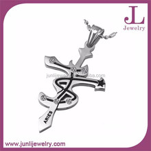Junli Jewelry Fashion Design Stainless Steel Aries Pendant