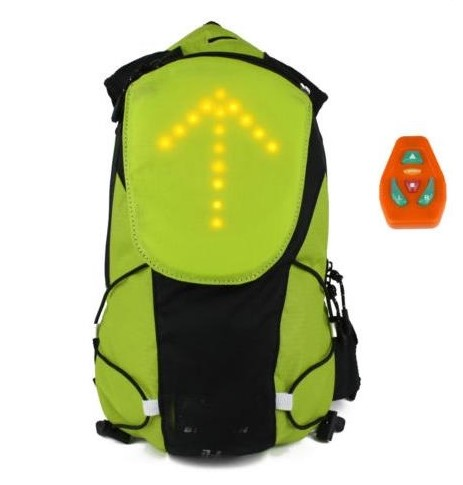 Wireless led Turn Signal Light Cycling Backpack ,Waterproof Bicycle Bag for Night Outdoor Safety