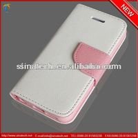 knife shape magnet closure wallet case for iphone 5,crossed texture