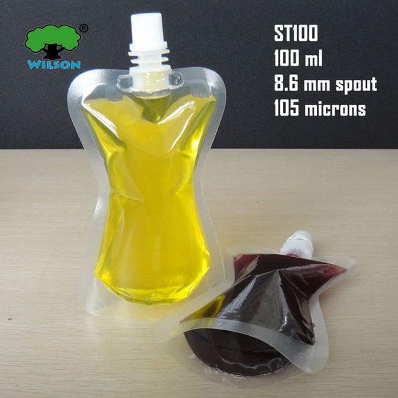 cheap packing cooking oil plastic bag with spout