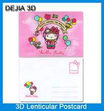 Cartoon design cheap price lenticular printing 3d postcard