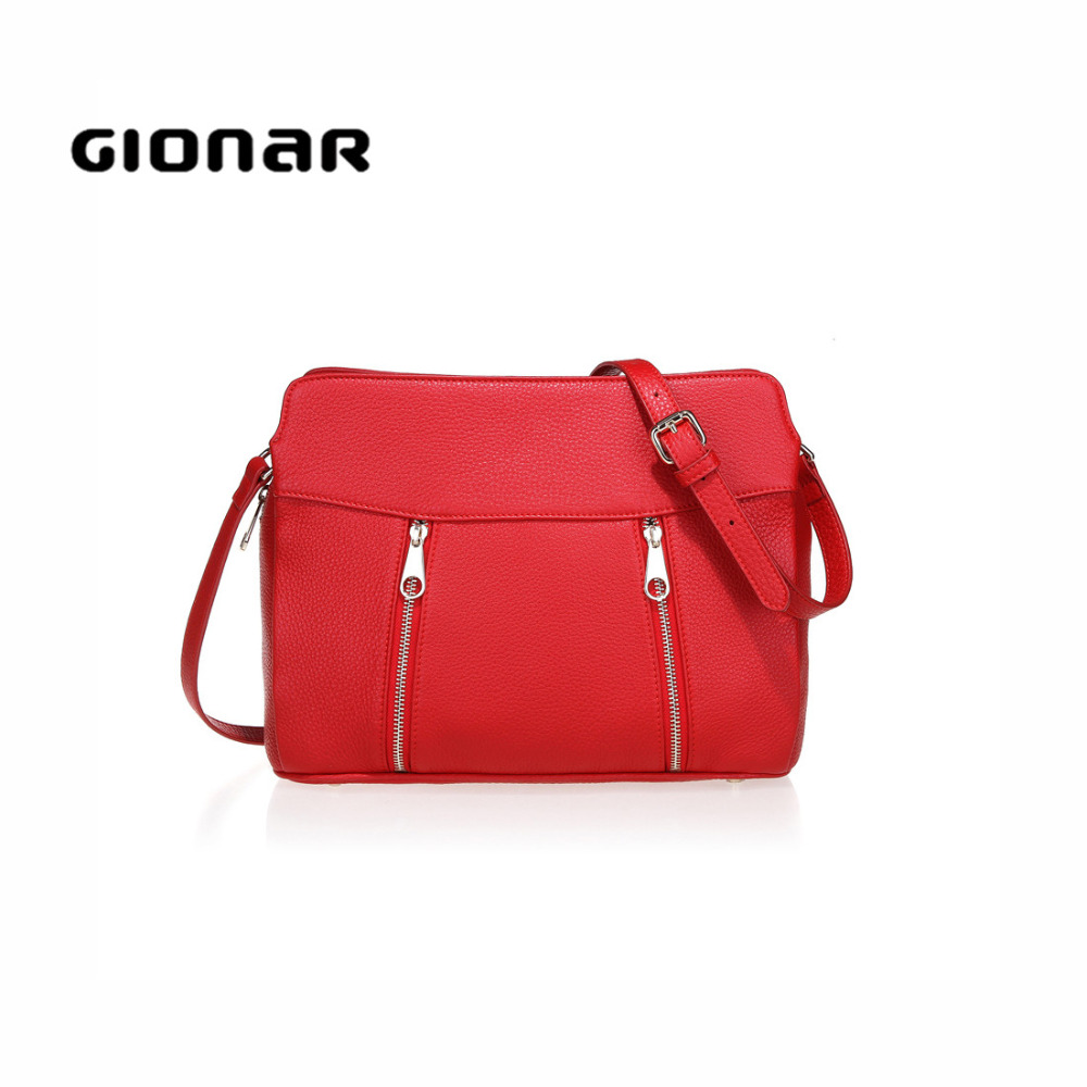 Online Shopping Red PU Leather Gionar Ladies Across the Chest Body Bag