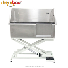 Shernbao BTS-130E SUS304 Stainless Steel Height Adjustable Electric Lifting Pet Dog Bathtub