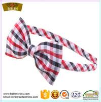 Wholesale print latticed fabric hair accessories bunny ear ponytail holders
