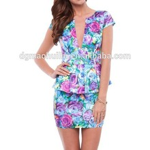 Wholesale printed Australia casual dress/ summer women casual wear