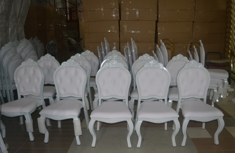 WORLD furniture New design wedding banquet furniture stainless steel baroque chair for sale