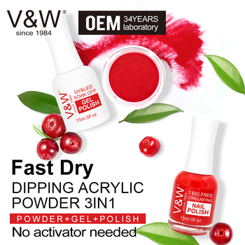 VW Wholesale Fast Dry 3 In 1 Dip Powder Kit Nails Dipping Powder System Acrylic Powder For Dipping French Color Starter Kit