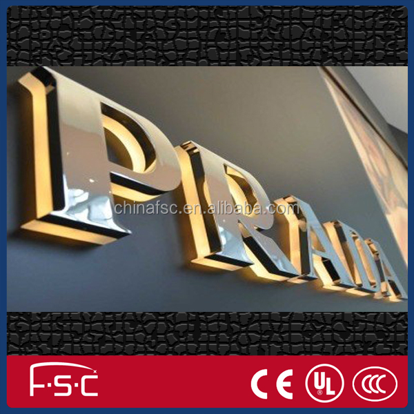 China Factory custom made high quality outdoor 3D frontlit lighting LED white and black sign letter