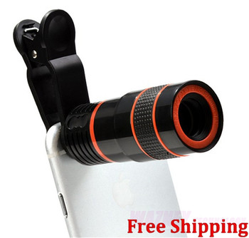 8X Optical 8 Times Zoom Cell Phone Telescope Camera LENS With Clip For iPhone Samgsung huawei