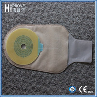 One-piece colostomy bag