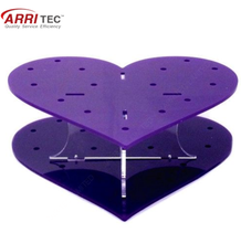 Heart shaped lollipops sweet acrylic display stand