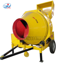 Diesel Engine powered mobile medium size jzr 350L capacity hydraulic tipping Concrete cement Mixer