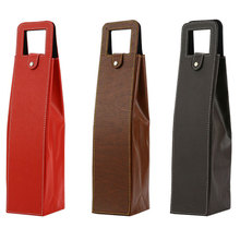 High quality factory customized pu leather single wine bottle holders