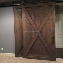 Mediterranean wine celler style sliding barn door