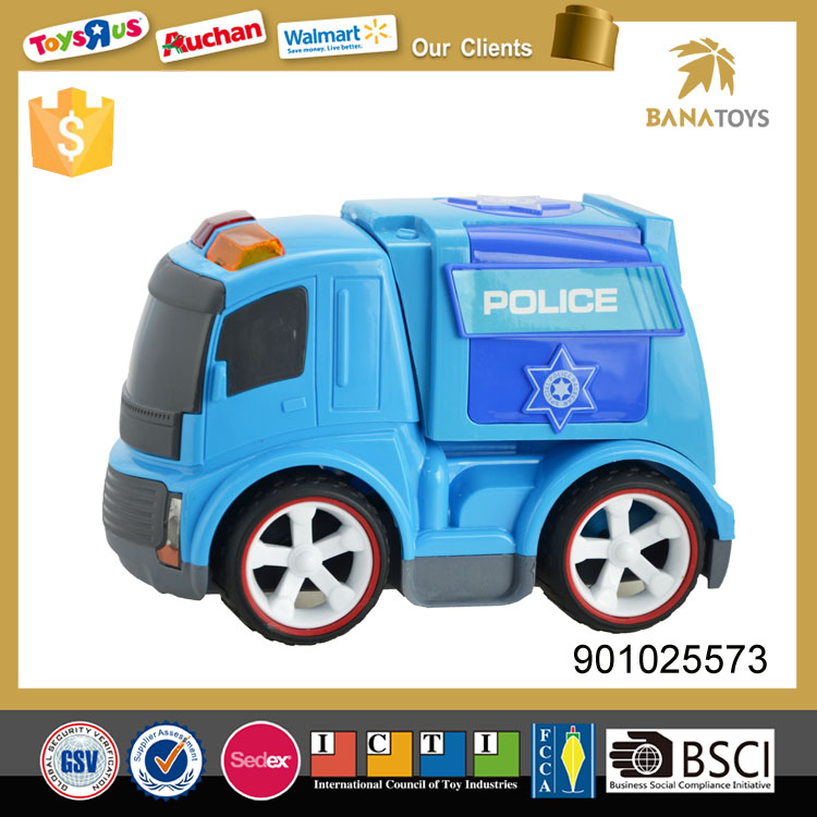 Inertia diecast model engineering bobby police car toy
