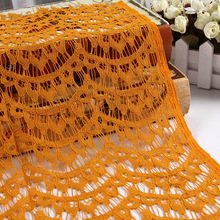 Fashionable customize width beaded sequined lace fabric For uniform