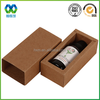 Customized brown kraft paper essential oil vial packaging box essential oil vial paper box