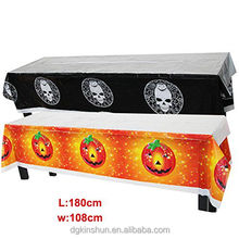 High quality decorative Halloween Fright Night Gothic PEVA Tablecloth for party decoration