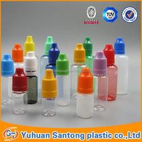 Colored Smoke Cigarette e-liquid Bottle Plastic Juice Bottles With Tamperproof Cap for Oil