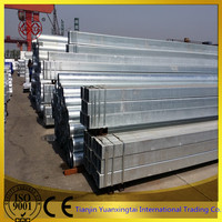 thick zinc coated galvanized square steel pipe with high strength for supporting